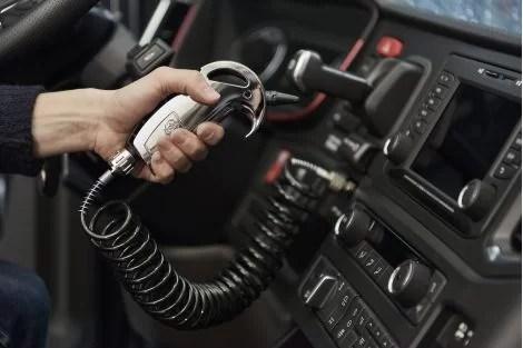 scania compressed air gun chrome in cab