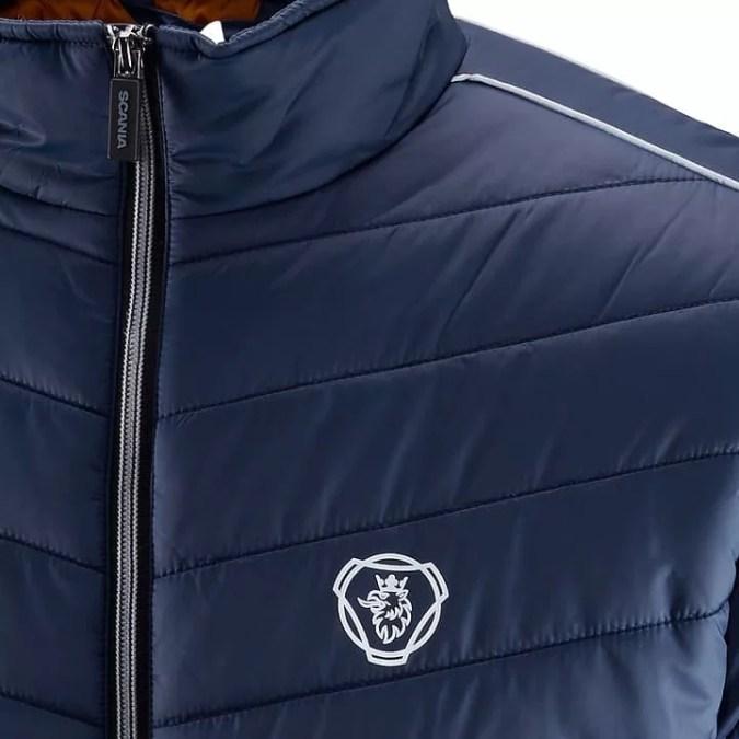 scania mens Blue insulation jacket close up