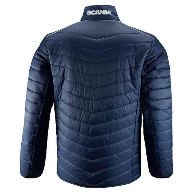 scania mens insulation blue jacket back