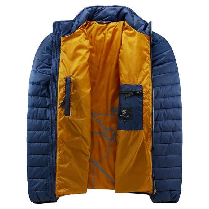 scania mens insulation blue jacket inside