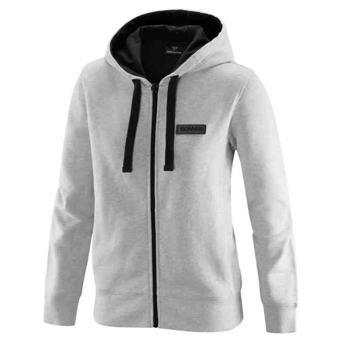 ladies white zip v8 hoodie