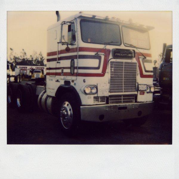 White Freightliner Cabover