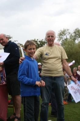 Keelan receives his trophy