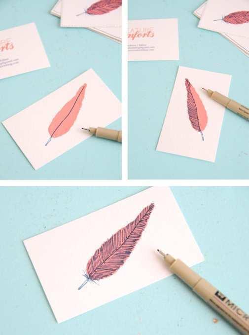 4 Amazing DIY Business Card Tutorials