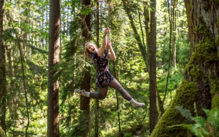It is always fun for Huxley College students to play on ropes in the woods while they plan their next lawsuit to take your property rights