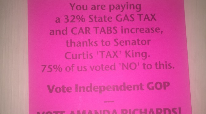 Protesting the King's tax in Washington