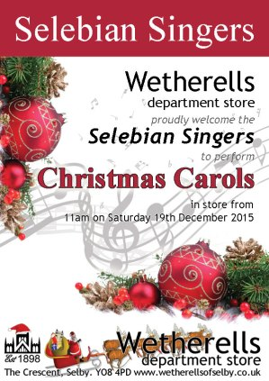 Selebian Singers at Wetherells selby