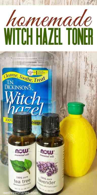DIY Lavender & Lemon Astringent is made with natural ingredients that help cleanse, balance, and refresh the skin.   We Three Shanes