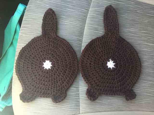 CATS Vintage lot of 3 hand crochet pot holders