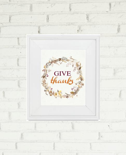 Give Thanks Free Printable | We Three Shanes