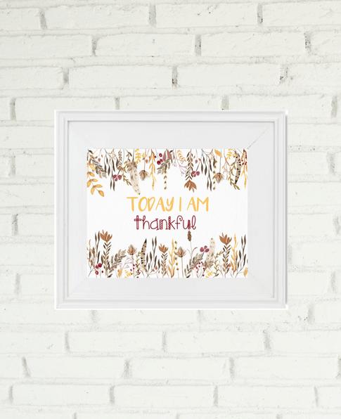 Today I Am Thankful Free Printable | We Three Shanes