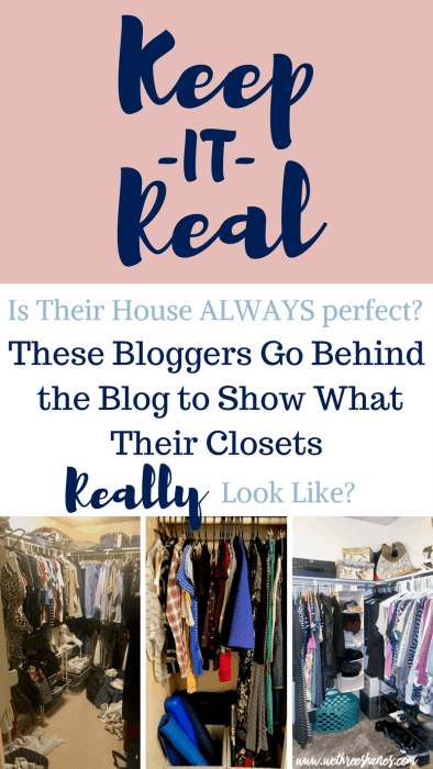 We want to show you the real in our lives not just the post perfect side of things. Our readers pick what they want to see. Are you curious to see what our closets usually look like? Just keep reading! | We Three Shanes
