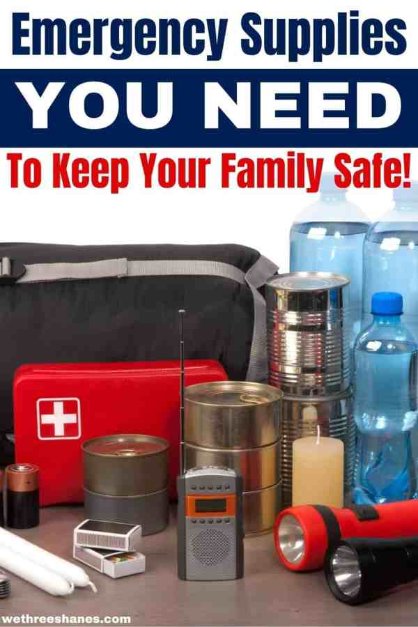 Go beyond a 24 hour kit with this next level prep checklist. Keep your family safe during these unpredictable times. | We Three Shanes