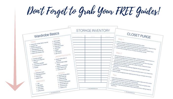Grab your free wardrobe worksheets and purge that closet! | We Three Shanes