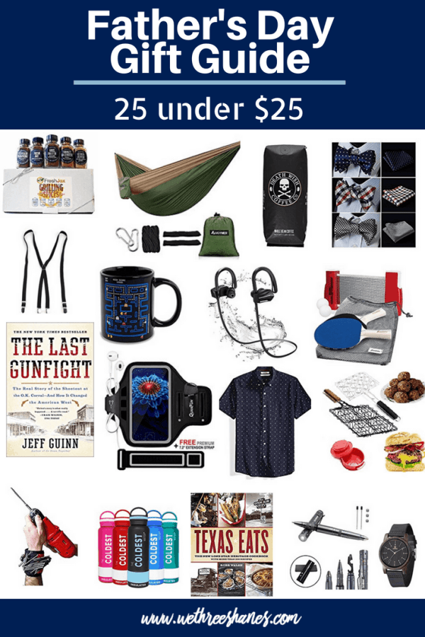 Dad deserves the best this Father's Day but not everyone can afford to spend a ton. We've got a long list of awesome budget gifts for dads. Finding the perfect Father's Day present is still possible, even if you're lacking funds, with our 25 under $25 gift guide. | We Three Shanes