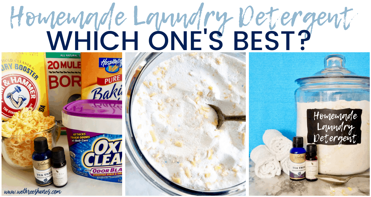 How To Choose The Best Homemade Laundry Detergent For Your Family | We Three Shanes