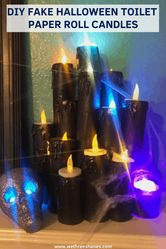Now you can make your own Fake Halloween Toilet Paper Candles with this simple tutorial. It's cheap, easy and so much fun. In just a couple of steps you'll have your own spooky set. Create your own today!   We Three Shanes