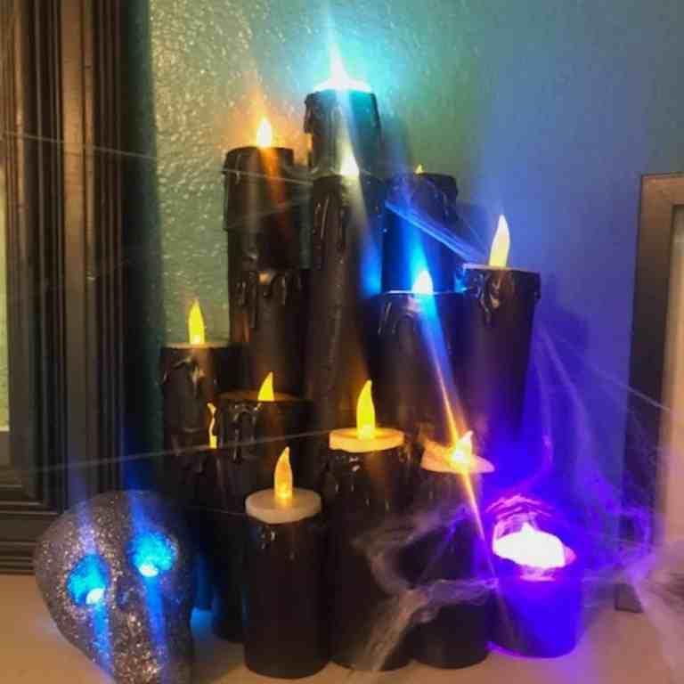 DIY Fake Halloween Candles