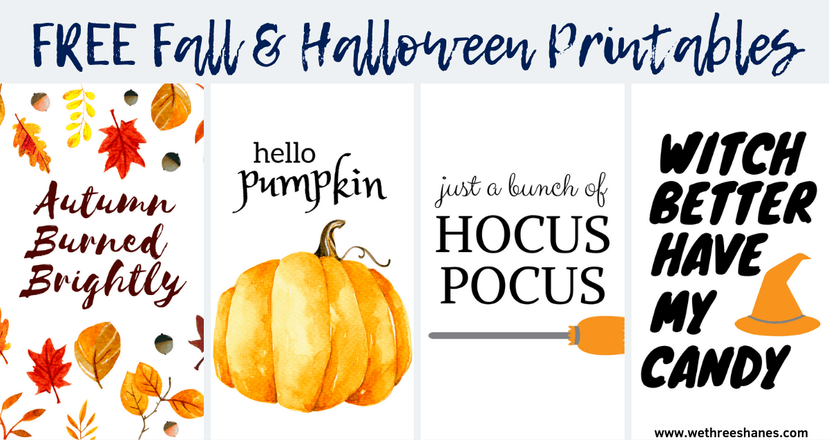 Free Fall and Halloween Printables