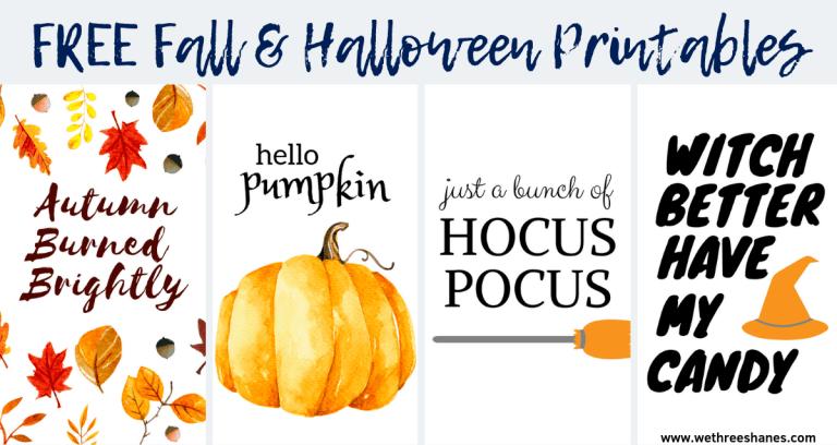 Free Fall and Halloween Printables