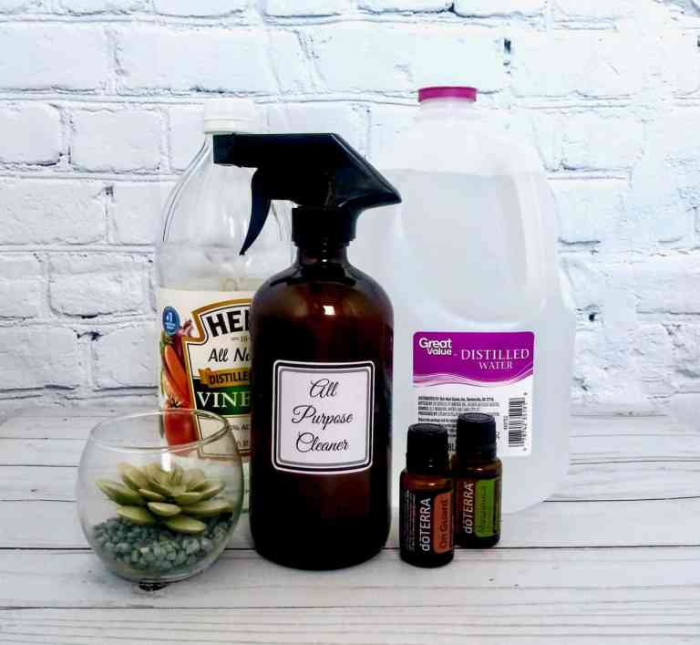 Make your own natural All Purpose Cleaner to use around the house. It's easy to make, cost effective, and gets the nasty chemicals out of your home. | We Three Shanes