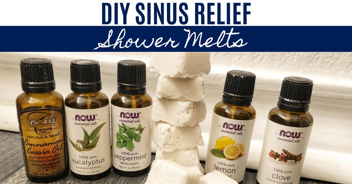 DIY Sinus Relief Shower Melt Aways