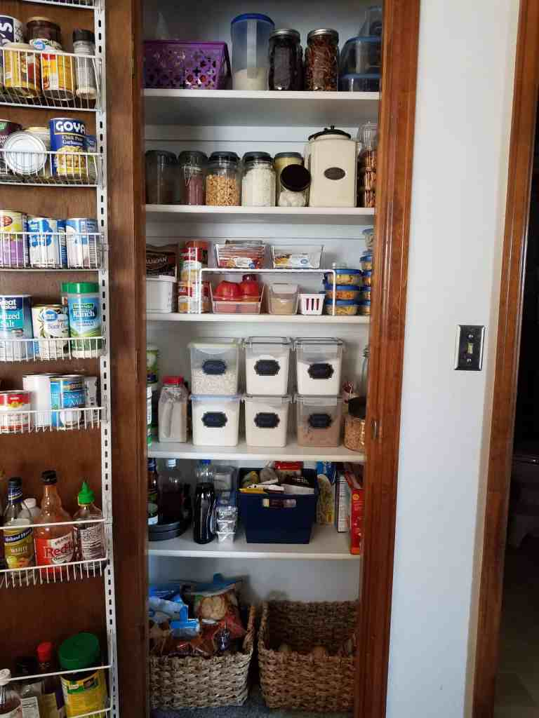 Organize any small pantry with these budget friendly, space saving ideas. Full of helpful tips so you can create your own functional and beautiful pantry. | We Three Shanes