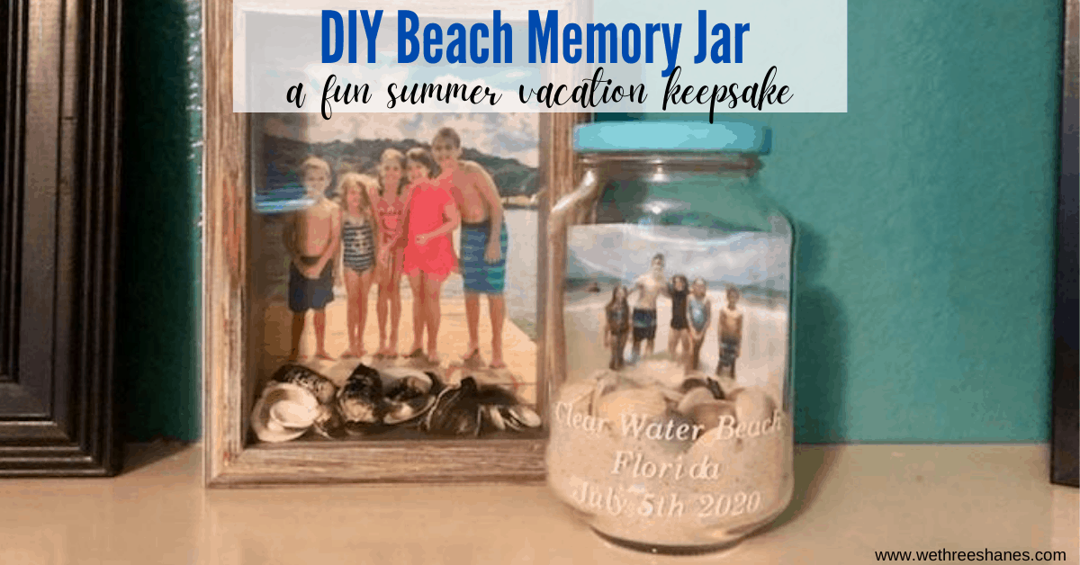 DIY Beach Memory Jar with Photo