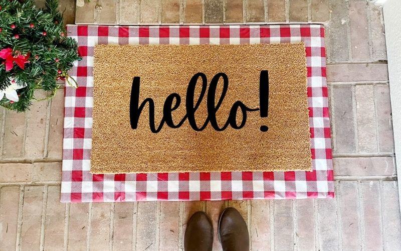 DIY Interchangeable Layered Doormat Tutorial