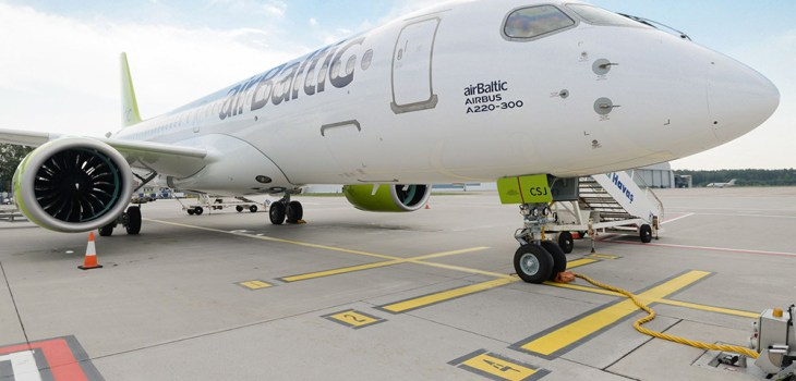 Airbus A220 airBaltic