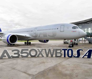 The first SAS A350 XWB featuring a brand new livery.