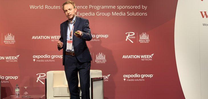 Neil Slaven, Director of Network & Airport Development di easyJet alla World Routes 2021 a Milano