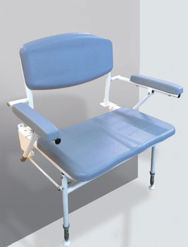 shower chair with back and armrests neutral posture ergonomic contour bariatric seat arms zoom