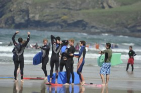 Prince Harry wetsuited