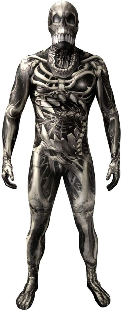 Morphsuit - Skull & Bones Monster Skeleton Fancy Dress Costume