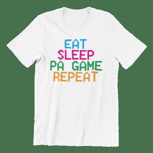 Eat Sleep Pa Game Repeat Crew Neck S-Sleeve T-shirt