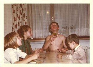Knut Maurer und Geschwister um 1969