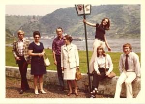 Ausflug an den Rhein - Knut Maurers Familie 1970