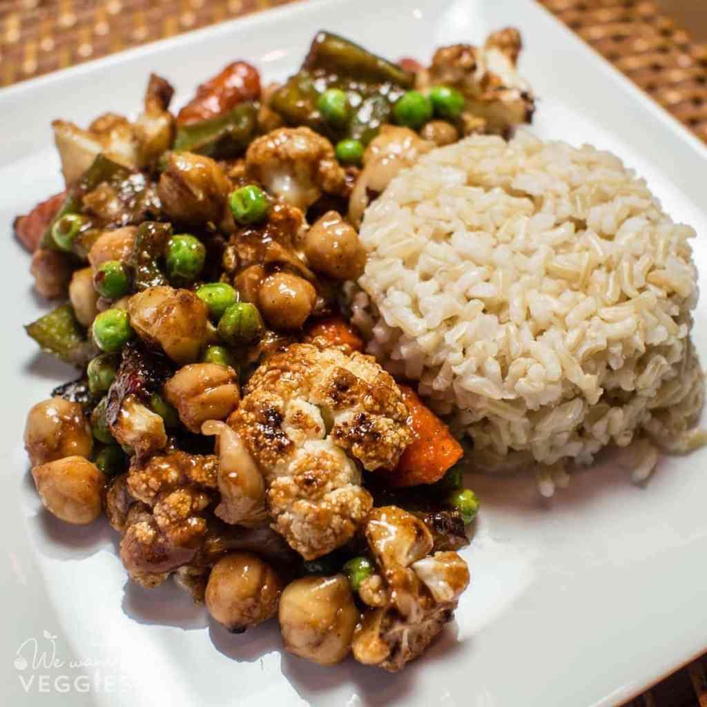 Sheet Pan Manchurian Vegetables - Enjoy