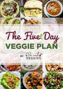 The Five Day Veggie Plan Book Cover