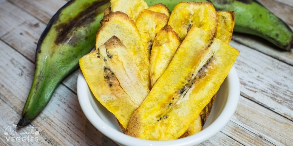 Crunchy plantain chips