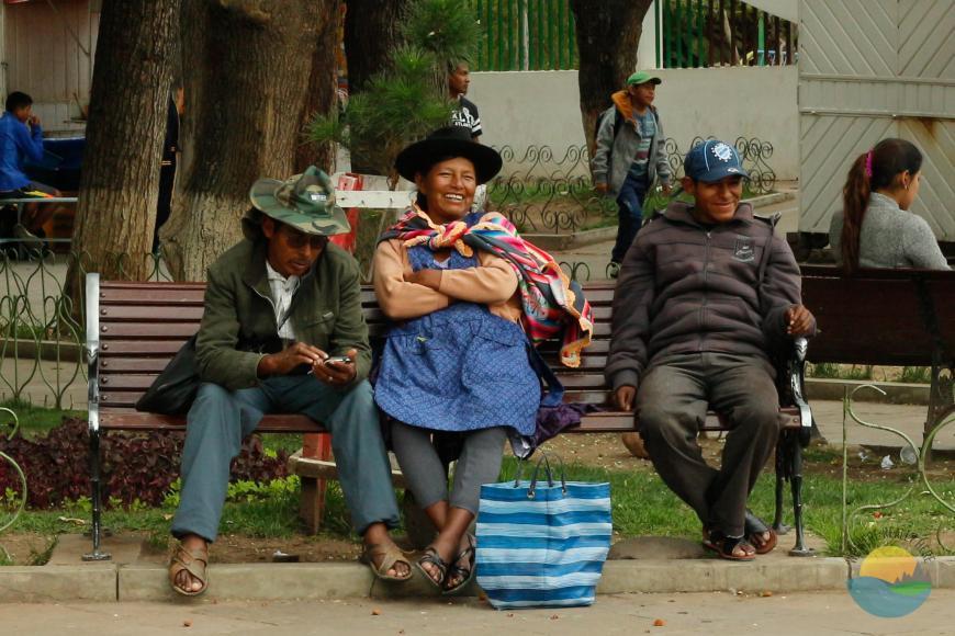 Street scene, Sucre park