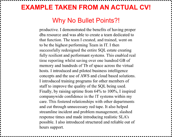 Simple CV Mistakes should be avoided