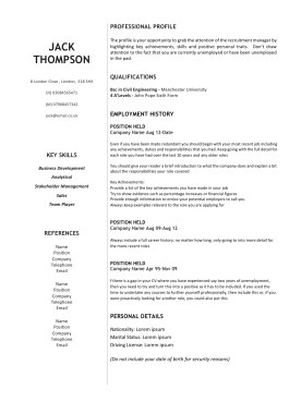 Side focused CV Templates