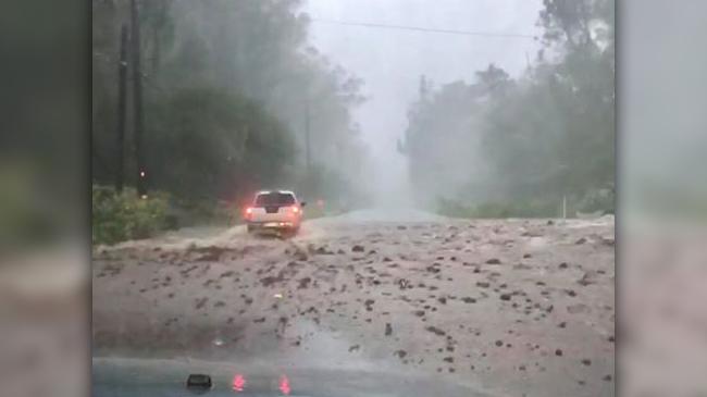 Highway 11 debris on road