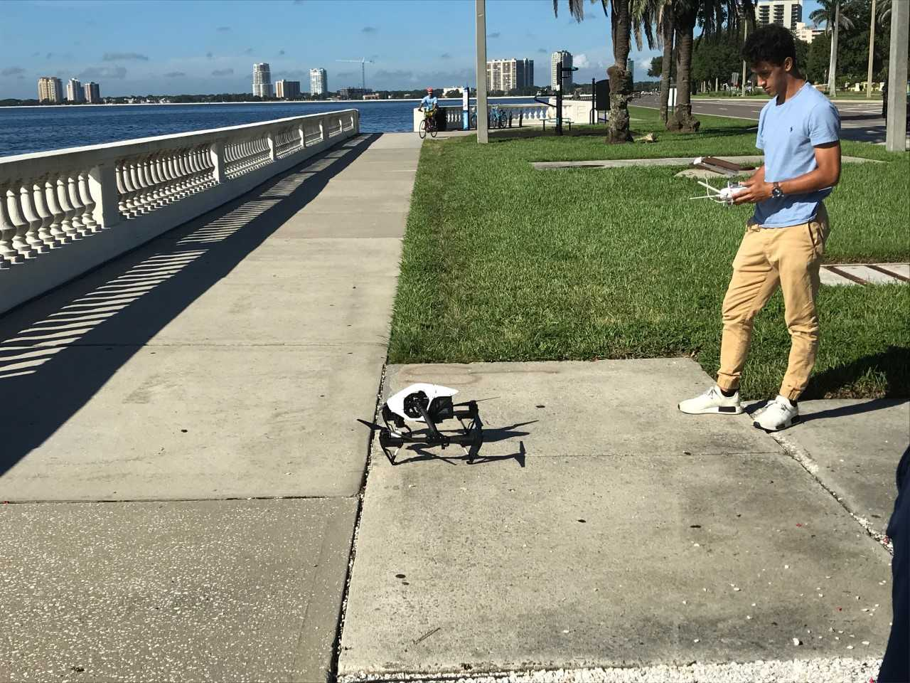 Dylan Gorman and his drone