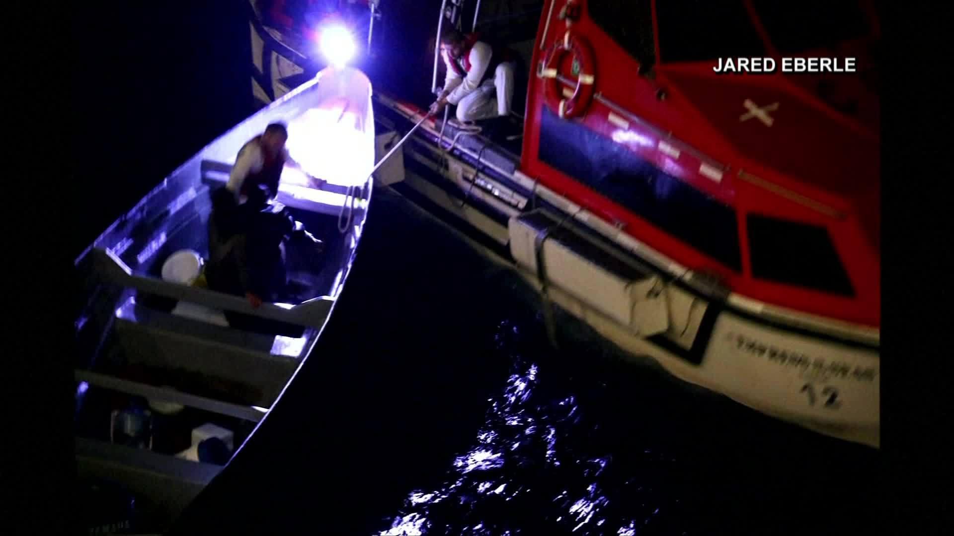 Cruise ship picks up men stranded at sea