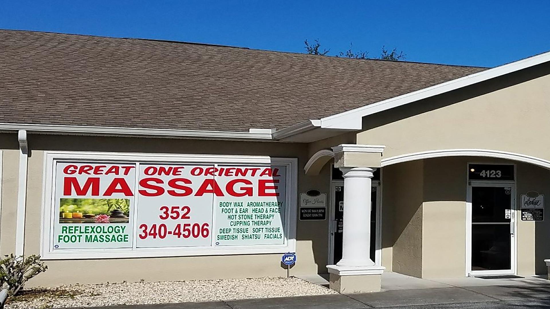 Asian massage parlor tampa