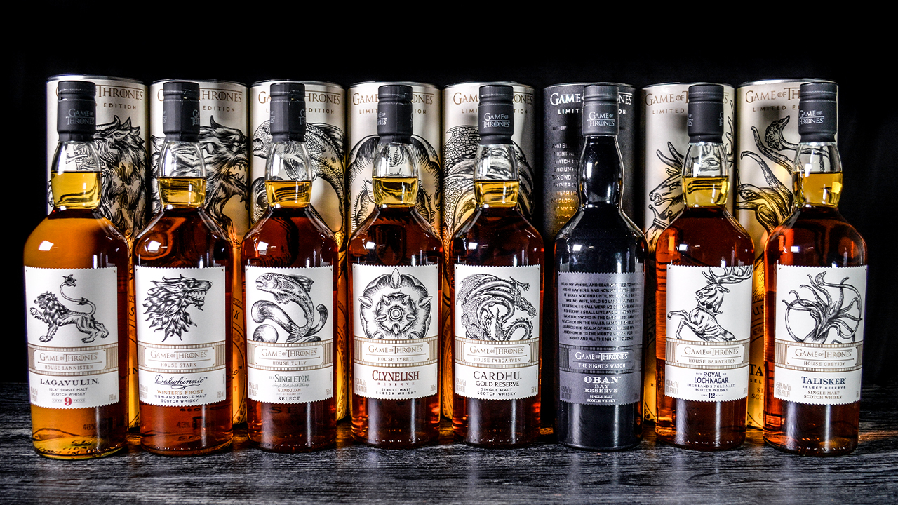 Datz Game of Thrones Diageo whiskey Collection