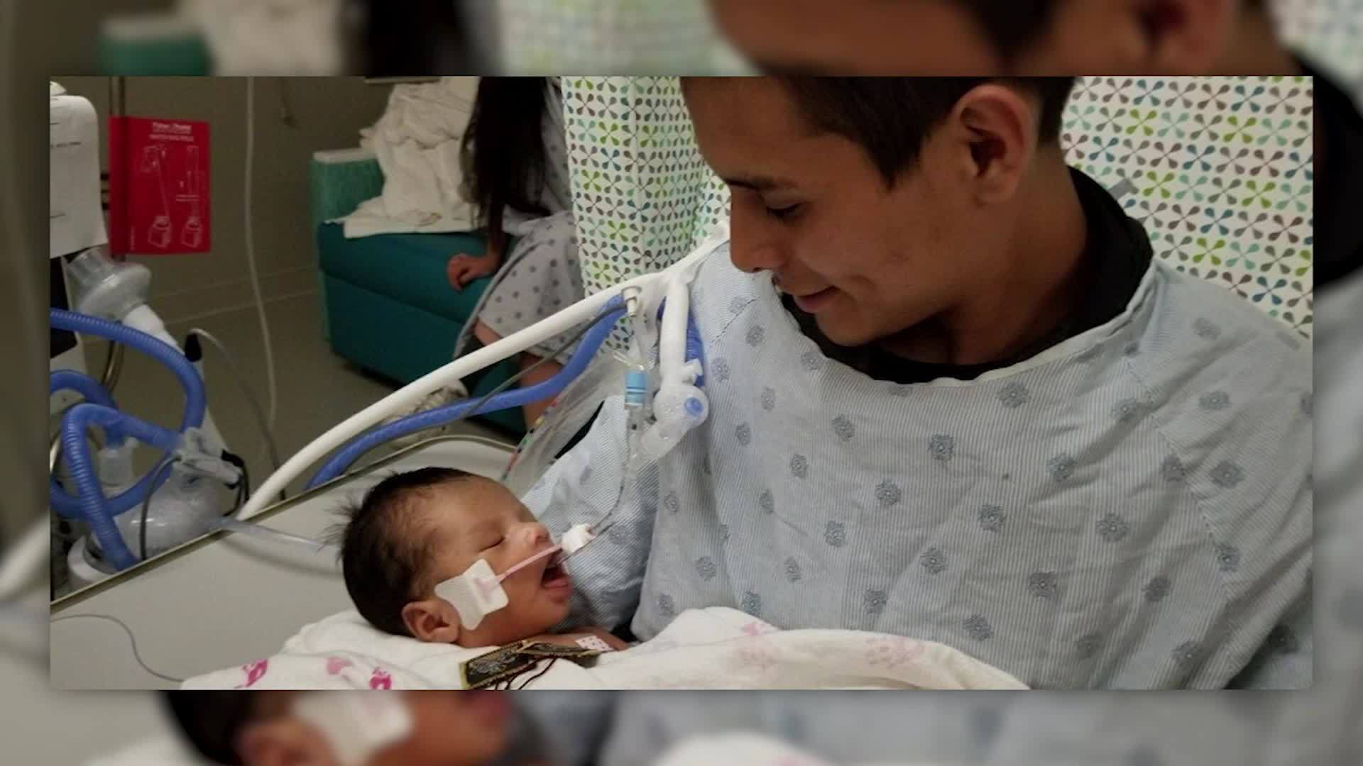 Baby cut from murdered Chicago mom's womb opens his eyes for first time